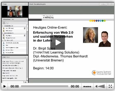 Lernen im Social Web Online Podium Birgit Spies thinktime e-learning